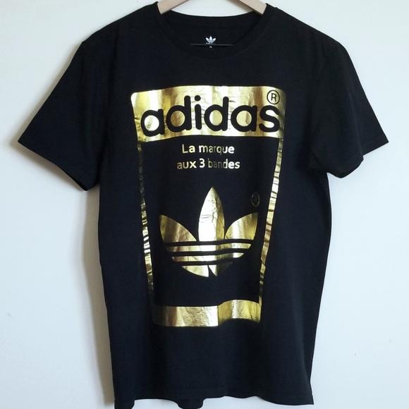black and gold adidas shirt
